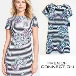 French Connection Bonita Floral Striped Dress